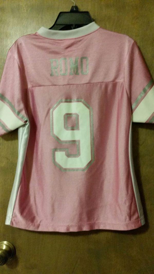 pink tony romo jersey