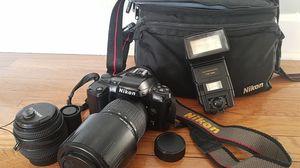 35mm Camera/2 lenses/Flash/Bag for sale  Louisburg, KS