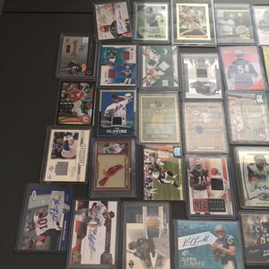 Multiple signed jersey rookie and numbered sports cards for Sale in Germantown, MD
