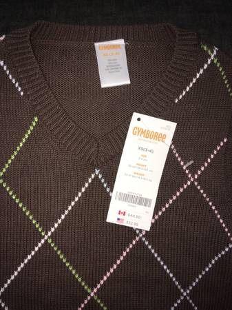 NWT XS (3/4) Gymboree Brown Argyle Sweater Vest
