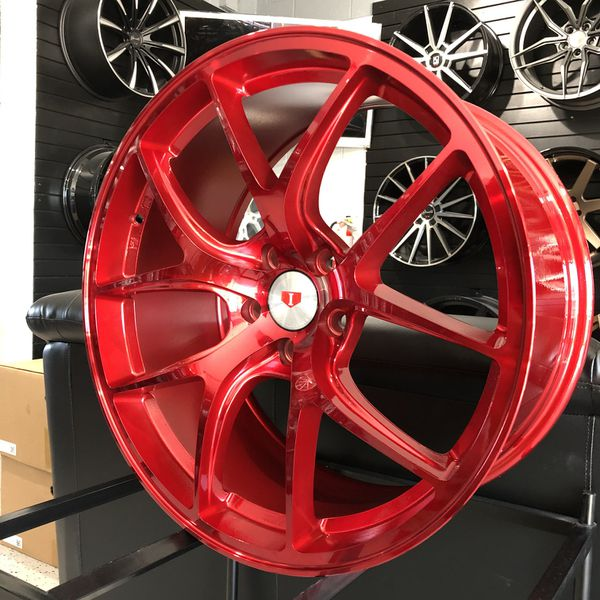 PRICE PER WHEEL 19x9.5 Candy Red Rims Fit 5x114 Ford