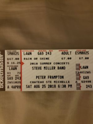 STEVE MILLER AND PETER FRAMPTON TICKETS for Sale in North Bend, WA