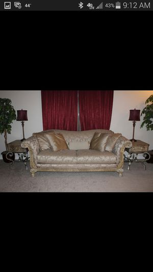 Couch,2 side tables, and console table for Sale in Detroit, MI