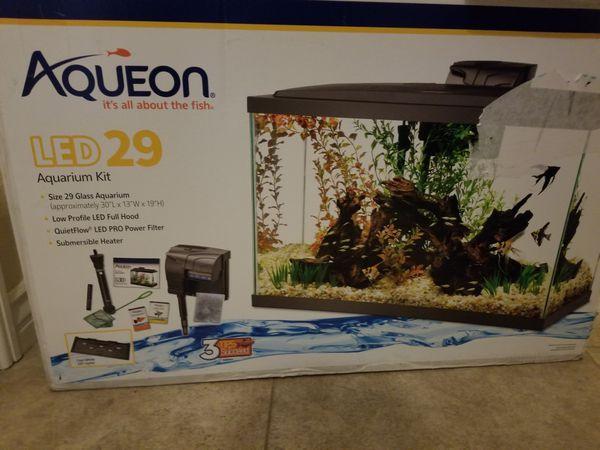 Aqueon NeoGlow Aquarium LED Starter Kit Orange 10 Gallon in