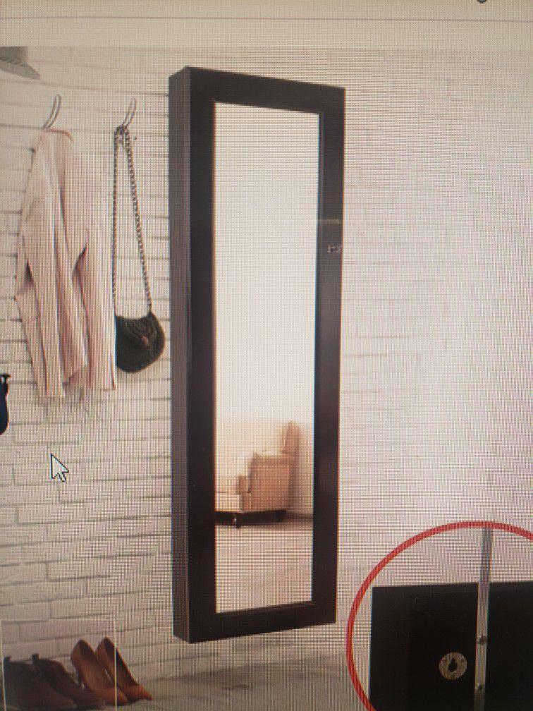 Daniil Wall Mounted Jewelry Armoire With Mirror