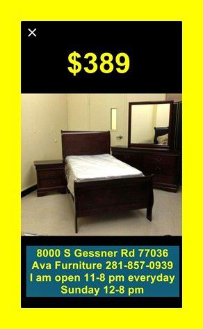four pieces twin bed set