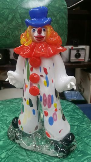 Bohemian art glass clown stamped ZBS for Sale in Montgomery Village, MD