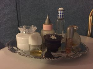 Vintage miniature perfume bottles and tray for Sale in Puyallup, WA