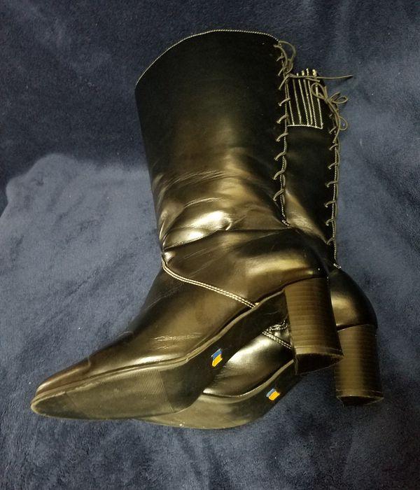 4fb44989d30 Avenue Cloudwalkers Knee High Lace Up Boots Wide Width   Wide Calf Black 9.5