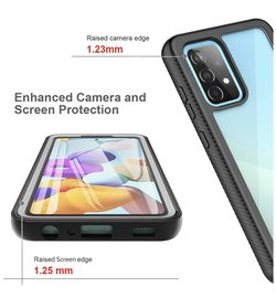 """Samsung A52 5g Case 6.5"""", 360 Full-Body Protective Built-in Screen Protector Dustproof Shockproof Anti-Scratch Cover Case Compatible with Samsung Gala Thumbnail"""