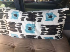 White black blue outdoor/ indoor throw pillows for Sale in San Diego, CA