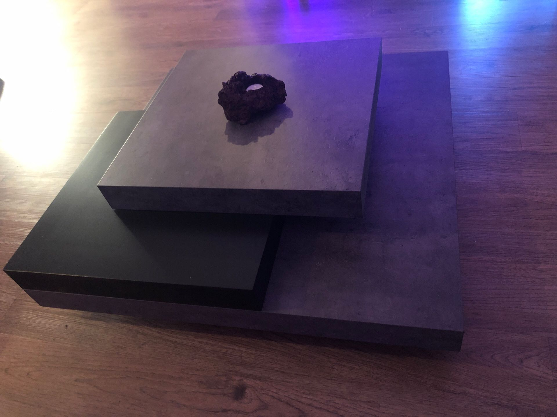 Black and Gray Coffee Table