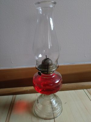 Vintage Glass Oil Lamp for Sale in St. Louis, MO