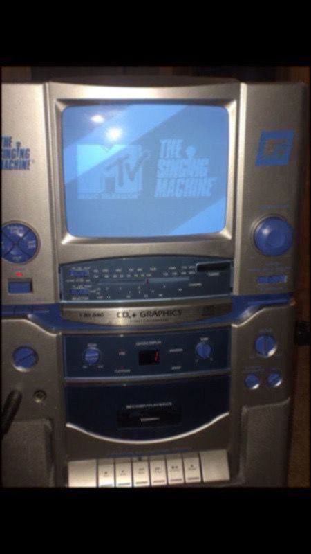 MTV EDITION- KARAOKE MACHINE WITH TV SCREEN/BUILT IN SPEAKERS for Sale in  Stoughton, MA - OfferUp