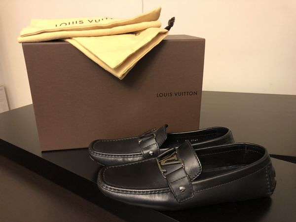 23c47e0959cd Louis Vuitton Monte Carlo Loafers - Black w Stainless LV for Sale in ...