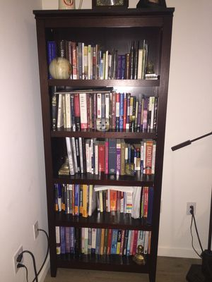Tall brown wooden bookcase from Target for Sale in Pittsburgh, PA