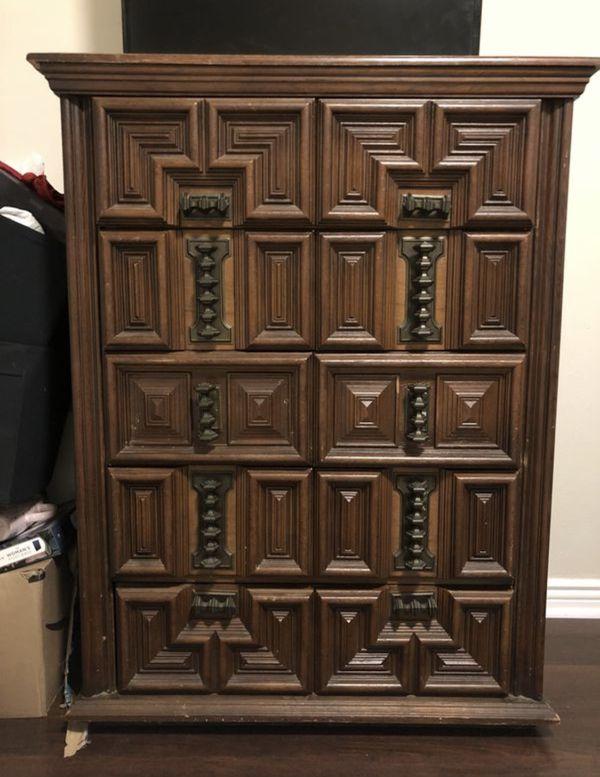 Wooden Vintage Dresser Furniture In San Diego Ca Offerup