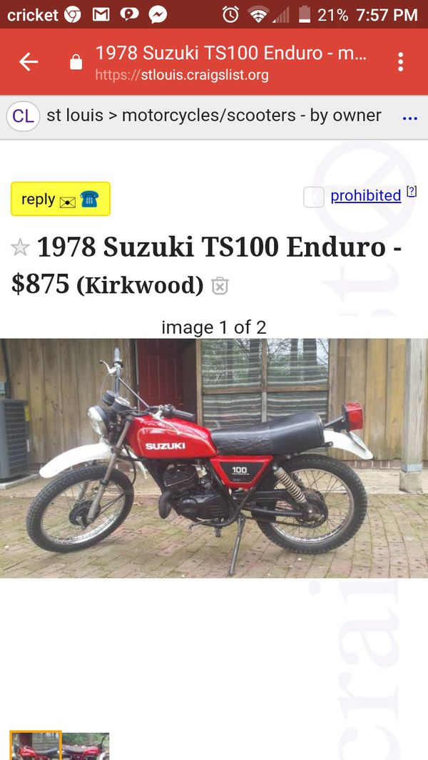 1978 suzuki ts100 for Sale in St  Louis, MO - OfferUp