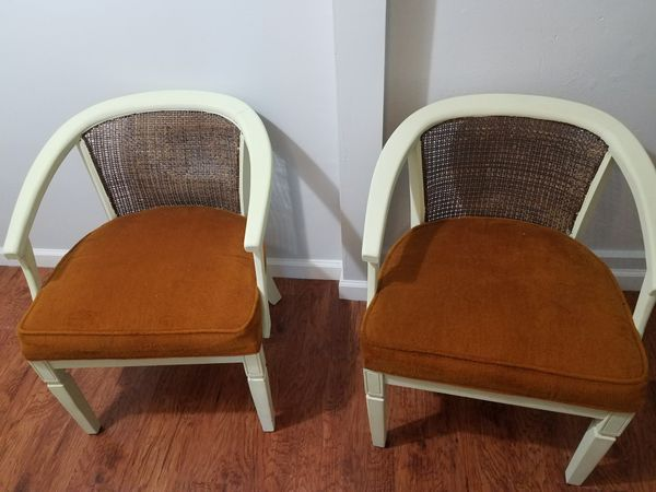 Orange and Cream Vintage Chairs Furniture in St Louis MO OfferUp