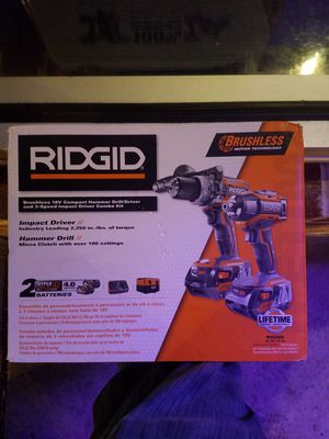 Ridgid 18 Flexvolt hammer drill and impact compact combo kit. for Sale in McDonogh, MD