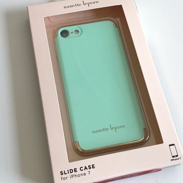 pretty nice 3354b d8f60 Nanette Lepore 3-PC Slide Case for iPhone 7 - Green/Gold for Sale in San  Jose, CA - OfferUp