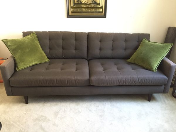 Outstanding Crate And Barrel Petrie Midcentury Sofa For Sale In Pabps2019 Chair Design Images Pabps2019Com