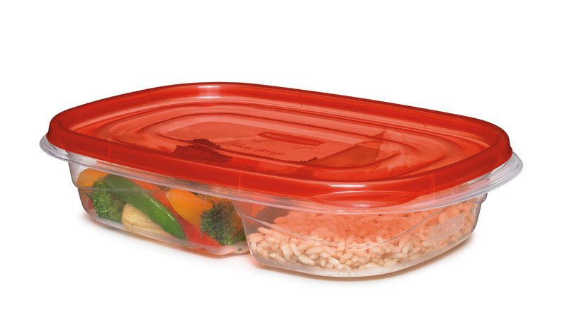Rubbermaid 3.7 cup Clear Food Storage Container 1 pk - Case Of: 1; Each Pack Qty: 3; Total Items Qty: 3