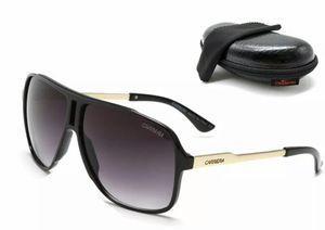 Photo Men Carrera Glasses Retro Sunglasses Matte Frame Metal Black High Quality R22