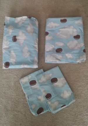 Oreo Cookie Queen Sheet Set for Sale in Gaithersburg, MD