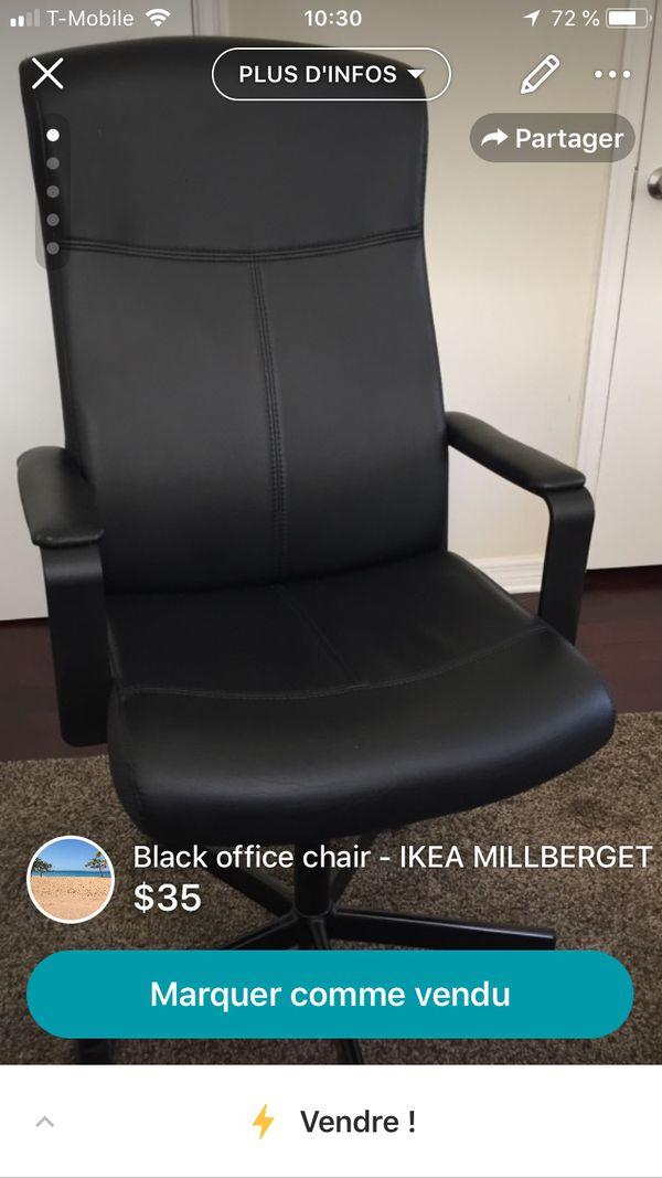 Brilliant Black Office Chair Ikea Millberget For Sale In Miami Beach Frankydiablos Diy Chair Ideas Frankydiabloscom