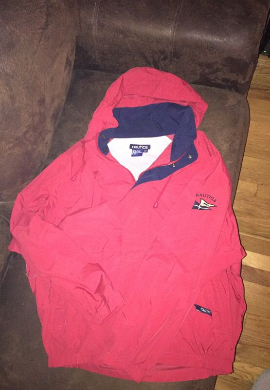 Nautica vintage jacket size large red