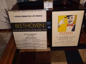 Two vintage concert posters owned bye famous person for Sale in Nashville, TN