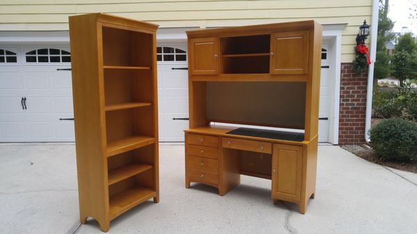 Stanley Furniture Wood Desk Hutch And Bookcase Set Maple For In Durham Nc Offerup