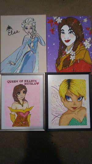 Photo 4 piece paintings