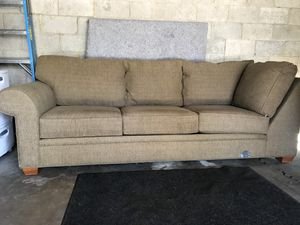Green Black Tweed 1 2 Of Sectional Couch For In Salt Lake City