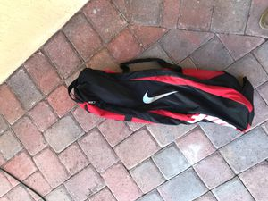 Red Nike Baseball Carrying Bat Bag Softball Sports Outdoors Athletic Gear for Sale in Princeton, FL