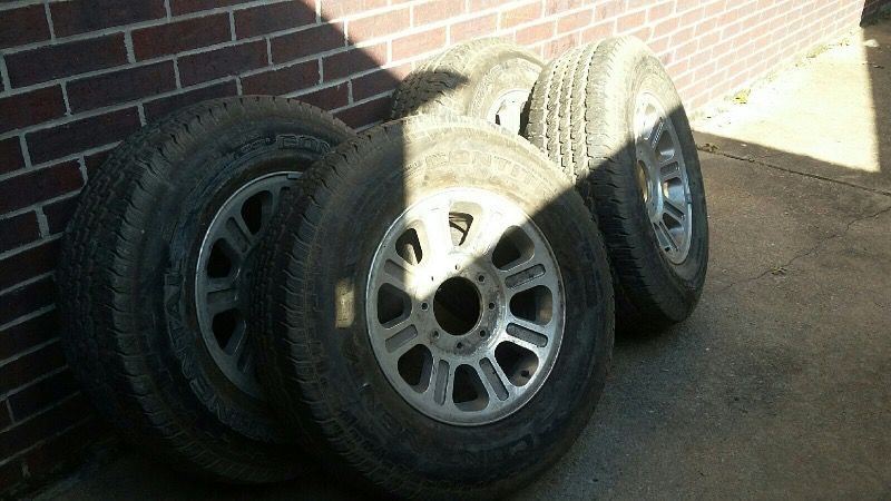 King Ranch Tires and Rims 90% Tread