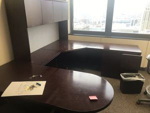 Beautiful espresso corporate office desk for Sale in Salt Lake City, UT
