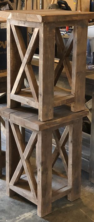 Photo Two square end tables