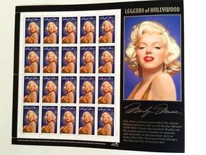 Marilyn Monroe Legends Of Hollywood Collector 32c Stamps 1995 Sheet Of 20 for Sale in Phoenix, AZ
