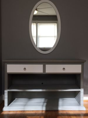 2 Drawer Console with Mirror, 3 Drawer Dresser & Desk with Chair for Sale in Baltimore, MD