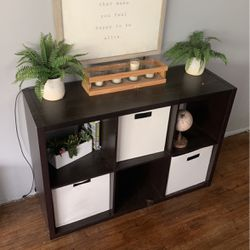 Shelf w/ All Trinket as is Including Plants Candle Holder Etc. Thumbnail