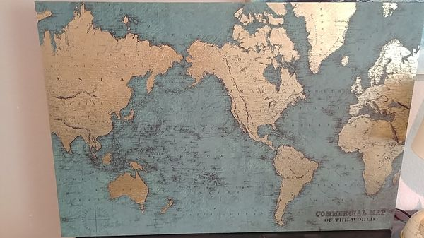 World map picture for sale in mcallen tx offerup gumiabroncs Choice Image