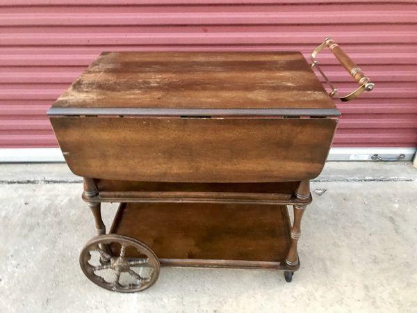 Beautiful Antique Wooden Tea Cart For Sale In Mckinney Tx Offerup