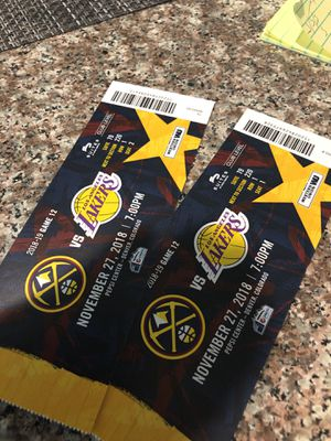 Lakers and nuggets game for Sale in Denver, CO