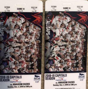 2 Caps VIP tickets for Sale in Falls Church, VA