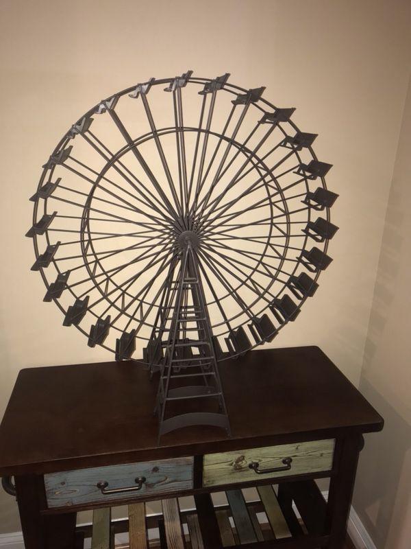 Pottery Barn Ferris Wheel Decor Art Metal for Sale in Rio Grande, NJ ...
