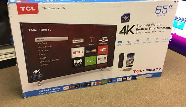 """TCL 65"""" HDTV LED 4K Smart RoKu Tv Model 65S405 for Sale in Duluth, GA -  OfferUp"""