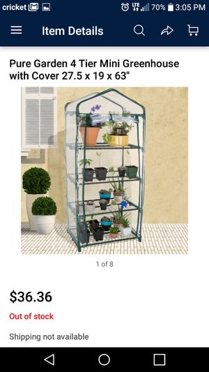 Pure garden 4 tier mini greenhouse. for Sale in South Euclid, OH