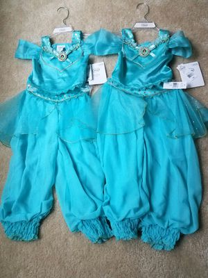 2 New with tags size 3 Disney Princess Jasmine pretend play dress halloween costume - both sets for $45 or $25 each set. Price firm for Sale in Rockville, MD